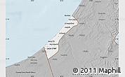 Gray Map of Gaza