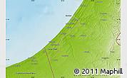 Physical Map of Gaza