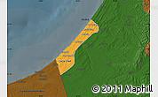 Political Map of Gaza, darken
