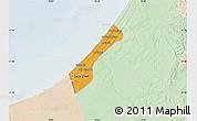 Political Map of Gaza, lighten