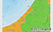 Political Map of Gaza