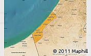 Political Map of Gaza, satellite outside
