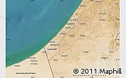 Satellite Map of Gaza