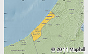Savanna Style Map of Gaza