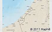 Shaded Relief Map of Gaza