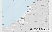 Silver Style Map of Gaza