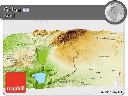 Resultado de imagen de Golán MAP PHYSICAL