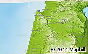 Physical 3D Map of Haifa