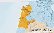 Political 3D Map of Haifa, lighten