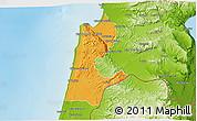Political 3D Map of Haifa, physical outside