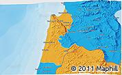 Political 3D Map of Haifa