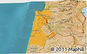 Political 3D Map of Haifa, satellite outside