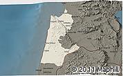 Shaded Relief 3D Map of Haifa, darken