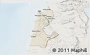 Shaded Relief 3D Map of Haifa, lighten