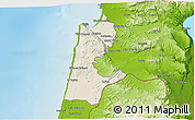 Shaded Relief 3D Map of Haifa, physical outside