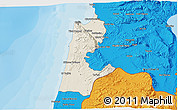 Shaded Relief 3D Map of Haifa, political outside