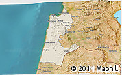 Shaded Relief 3D Map of Haifa, satellite outside