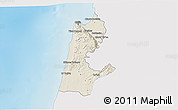 Shaded Relief 3D Map of Haifa, single color outside