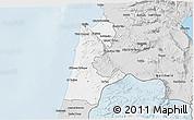 Silver Style 3D Map of Haifa