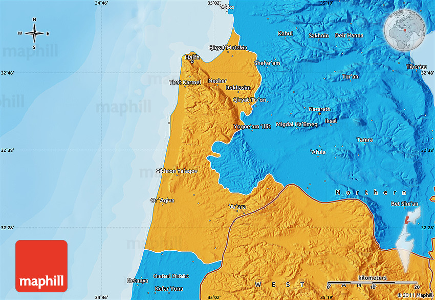 Political Map of Haifa