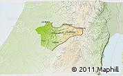 Physical 3D Map of Jerusalem, lighten