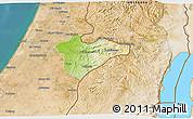 Physical 3D Map of Jerusalem, satellite outside