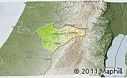 Physical 3D Map of Jerusalem, semi-desaturated