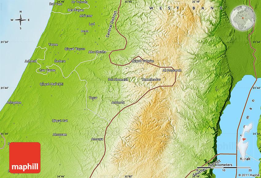 Physical Map Of Jerusalem
