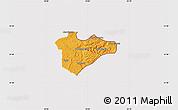 Political Map of Jerusalem, cropped outside