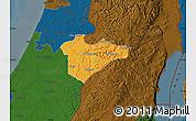 Political Map of Jerusalem, darken