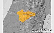 Political Map of Jerusalem, desaturated