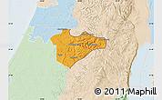 Political Map of Jerusalem, lighten