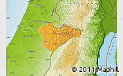 Political Map of Jerusalem, physical outside