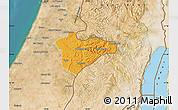 Political Map of Jerusalem, satellite outside