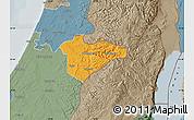 Political Map of Jerusalem, semi-desaturated