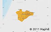 Political Map of Jerusalem, single color outside