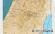 Satellite Map of Jerusalem