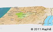 Physical Panoramic Map of Jerusalem, satellite outside