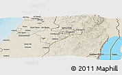 Shaded Relief Panoramic Map of Jerusalem
