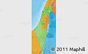 Political Shades Map of Israel