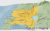 Savanna Style Panoramic Map of Northern