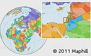 Political Location Map of Tel Aviv