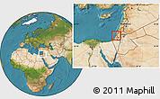 Satellite Location Map of Tel Aviv