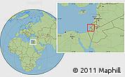 Savanna Style Location Map of Tel Aviv