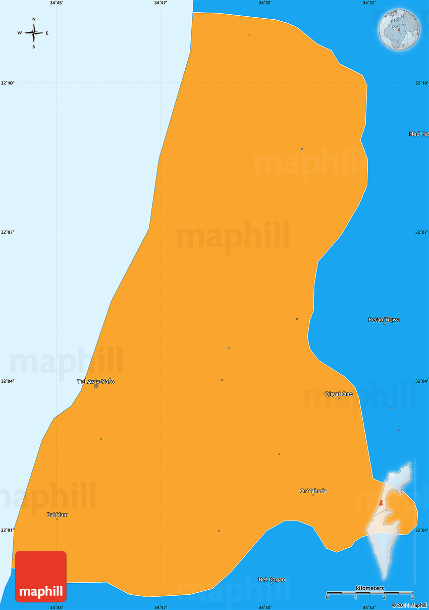 Simple Map Of Israel Pictures to Pin on Pinterest PinsDaddy