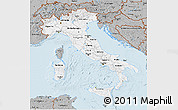 Gray 3D Map of Italy