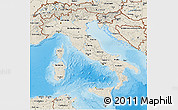 Shaded Relief 3D Map of Italy