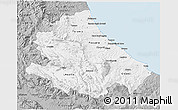 Gray 3D Map of Abruzzo