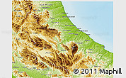 Physical 3D Map of Abruzzo