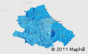 Political Shades 3D Map of Abruzzo, cropped outside